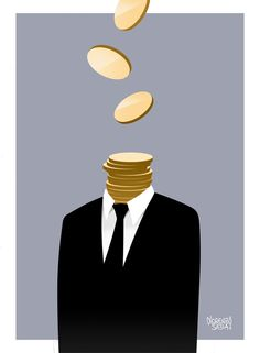 Every man has a value. Sometimes he's on sale at half the price. Artwork by Lorenzo Sabia.