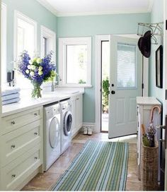 This is my dream laundry room. Now if I could just find someone else to do the laundry, I would be set!