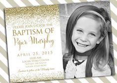 Baptism Invitation Printable - Girl Baptism Invitation -  LDS Baptism Custom Downloadable Invitation DIY