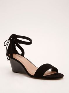 522a70213f6 Faux Suede Ankle Strap Mini Wedges (Wide Width)