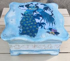 A personal favorite from my Etsy shop https://www.etsy.com/listing/453812112/peacock-decorative-box-keepsake-box-gift