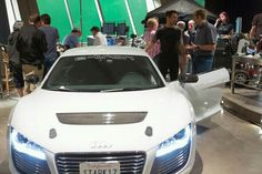 "In ""Iron Man 3,"" Tony Stark drives the new electric supercar, the Audi R8 E-Tron. www.dealerdonts.com"
