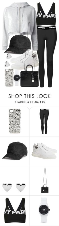 """Untitled #19783"" by florencia95 ❤ liked on Polyvore featuring Marc by Marc Jacobs, Topshop, Yves Saint Laurent, Filling Pieces and Nixon"