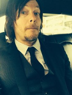 Norman Reedus en route to The Tonight Show w/Jimmy Fallon