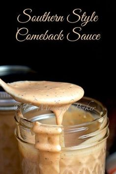 There's a lot of different formulas for comeback sauce. I particularly liked the flavors in Mary Foreman from Deep South Dish's Mississippi Comeback Sauce, so I tailored it to my own taste. Comeback Sauce, Salsa Dulce, Deep South Dish, Marinade Sauce, Snacks Für Party, Homemade Sauce, Homemade Candies, Food Trucks, Mets