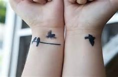 flying bird tattoo- I want something like this but only on 1 wrist and 1 bird on a branch with 2 birds flying away. Soon.