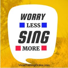 Why should you worry when you can sing? Truth is, when you worry less & sing more, stress moves further away. Heed this motivational quote for singers. Singing Quotes, Singing Tips, Music Quotes, Learn Singing, Singing Lessons Online, Singing Course, Vocal Training, Best Quotes, Life Quotes