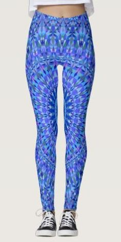 Discover Blue leggings at Zazzle! Blue Leggings, Printed Leggings, Triangle Pattern, Clothing Apparel, Apparel Design, Leggings Fashion, Dressmaking, Design Design, Things That Bounce
