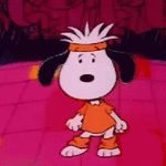 disco lesson with Snoopy
