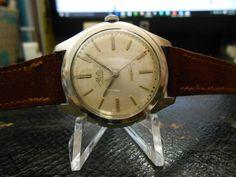 Vintage Ernest Borel Mallard Men's watch with Suede band #ErnestBorel