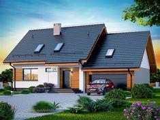 Projekt domu Lisandra 2M 122,9 m2 - koszt budowy - EXTRADOM Facade House, Tropical Houses, Dream Rooms, Home Fashion, House Plans, Garage Doors, Shed, New Homes, Real Estate