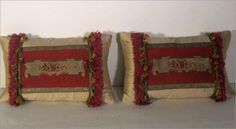 Pair of Inset Aubusson Pillows $450.00