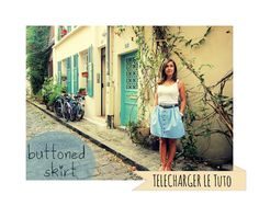 Buttoned Skirt : le tuto