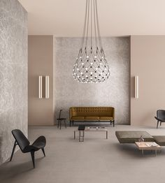 Mid-century design is definitely here to stay! Clean lines, neutral colors and a touch of shimmery elements. Living Room Interior, Interior Design Living Room, Modern Interior, Interior Architecture, Interior And Exterior, Decoration Inspiration, Interior Inspiration, Living Room Lounge, Living Styles