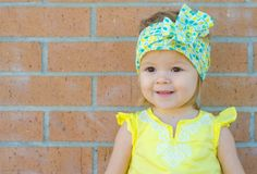 White, Green, and Yellow Vintage Style Headwrap with Leaf Accents - Infant to Adult - Knot, Bow, Turban - Wear in Front, Back, Side!