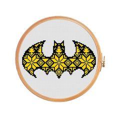 (10) Name: 'Embroidery :  Nordic batman - cross stitch pattern.