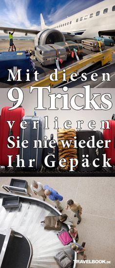 Mit diesen 9 Tricks verliert man nie wieder sein Gepäck #Flugreisen #Gepäck #Airports http://www.travelbook.de/service/Auf-Flugreisen-Mit-diesen-Tricks-verlieren-Sie-nie-wieder-Ihr-Gepaeck-608611.html