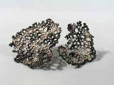 Dark Lichen Brooches by Patrycja Zwierzynska