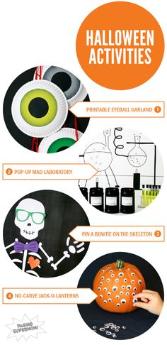 Easy & Kid-Friendly Halloween ideas with lots of FREE Printables at PagingSupermom.com #halloween