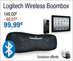 Système audio sans fil Wireless Boombox de Logitech à moins de 100 euros avec livraison gratuite.