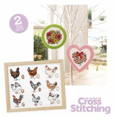 FREE gifts you'll love! Oh-so-pretty stitch kit of fab florals, to make a sweet felt hanging. Plus country charm chickens sampler, free with issue 212 of The World of Cross Stitching magazine