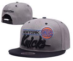 New York Knicks Gray Snapback Hats Embroidery Logo