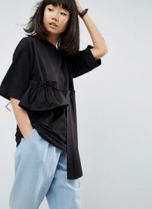 20 Budget-Friendly Black Ruffle Tops – Wear Black | Drink Champagne ASOS –  Asos