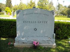 "Celebrity Headstones-Estelle Getty, Actress, Best Known for her role on ""The Golden Girls"""