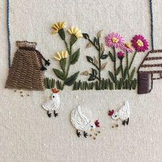 #embroidery #autumn #flower #chicken #handmade #loveit #needlework #illustration #made