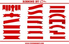 A solid group of vectored ribbons.
