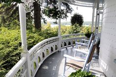 Love this wrap around porch! Picture is from http://eclecticrevisited.com for ideas on home decorating.  Relax. Enjoy.