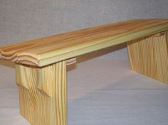 EarthBench - Kneeler - Zazen Meditation Bench for Kneeling Meditation, Contemplative Studies, and Prayer. Solid YELLOW PINE Construction.