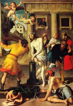 Flagellation of Christ , c. 1,610     Alessandro Turchi, the OrbettoAtlas of Italian