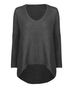 Love this Black Basket-Knit Hi-Low Sweater on #zulily! #zulilyfinds