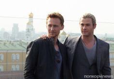Мстители в Москве. Том Хиддлстон (Локи) - popcornnews