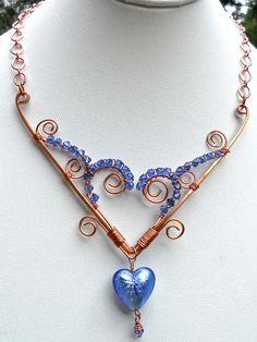 Blue Heart. $60,00, via Etsy.