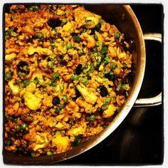 Brown Basmati Biryani with Chickpeas and Cashews - Testing for Vegan Eats World-Terry Hope Romero's new cookbook