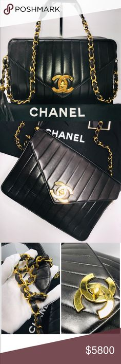 cd361582161a54 Authentic Chanel Vintage Lambskin Shoulder Bag Authentic Pre-Loved Chanel  Vintage Quilted Lambskin Leather With