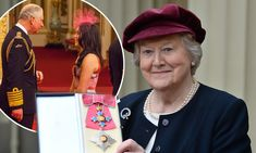 Patricia Routledge is made a Dame at Buckingham Palace Olympic Hockey, Women's Hockey, Clive Swift, Companion Of Honour, Itv Shows, Pink Fascinator, Leonard Bernstein, Keeping Up Appearances