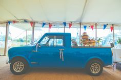 James and Katrina's Red White and Blue Retro Village Fete Wedding By Tom Halliday