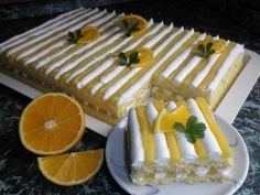 Citrusový dezert Czech Recipes, Healthy Deserts, Bakery, Lemon, Dessert Recipes, Sweets, Cheese, Chocolate, Eat