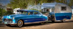 Route 66 Vintage Car and Trailer - Anne McKinnell Photography - Wohnwagen Vintage Campers Trailers, Retro Campers, Vintage Caravans, Camper Trailers, Retro Rv, Route 66, Classic Campers, Classic Trailers, Old Campers