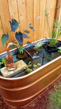 Stock tank koi o.o d & water garden