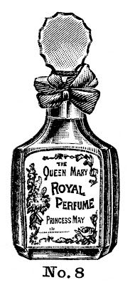 Vintage Beauty Clip Art - Perfume and Powder - The Graphics Fairy