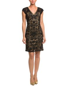 Spotted this Sue Wong Black & Nude Embellished Dress on Rue La La. Shop (quickly!).