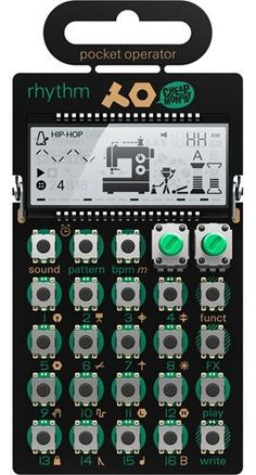 Price includes silicone case Making electronic music has never been this much fun. The wall of sound in your pocket. Pocket operators are small, ultra portable music devices, with studio quality sound Techno, Arcade, Rock And Roll, Best Drums, Teenage Engineering, Digital Instruments, Musical Instruments, Hip Hop, Wall Of Sound