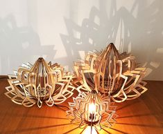 Moussa Moussa is raising funds for Plant Lover / Lotus Lamps / Made in Paris on Kickstarter! eco-friendly wood lamps made in Paris. Wooden Lampshade, Wooden Chandelier, Wood Lamps, Table Lamps, Laser Cut Lamps, Laser Cut Wood, Laser Cutting, Lotus Lamp, Laser Cutter Ideas