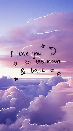 I love you to the moon - Tap to see more sweet quotes about love! - @mobile9