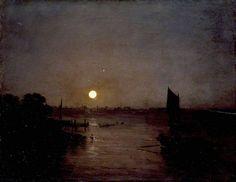 Moonlight- Joseph Mallord William Turner paintings