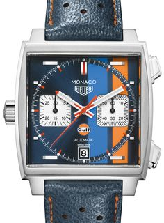 TAG Heuer reveals the Monaco Gulf Special Edition. A watch that specifically recalls Steve McQueen's role in making the Monaco famous.
